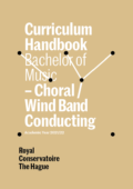 Cover Curriculim Handbook bachelor Choral Wind Band Conducting