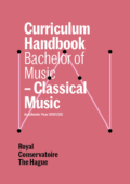 Cover Curriculim Handbook bachelor Classical Music