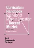 Cover Curriculim Handbook bachelor Docent Muziek verkort