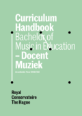 Cover Curriculim Handbook bachelor Docent Muziek