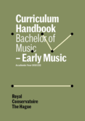 Cover Curriculim Handbook bachelor Early Music