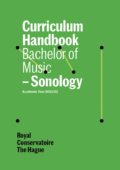 Cover Curriculim Handbook bachelor Sonology