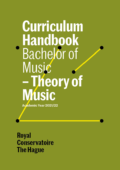 Cover Curriculim Handbook bachelor Theory of Music