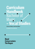 Cover Curriculim Handbook bachelor Vocal Studies