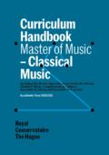 Cover Curriculim Handbook master Classical Music