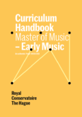 Cover Curriculim Handbook master Early Music