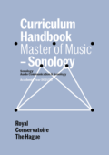Cover Curriculim Handbook master Sonology