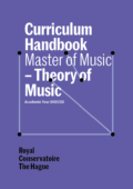 Cover Curriculim Handbook master Theory of Music