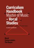 Cover Curriculim Handbook master Vocal Studies