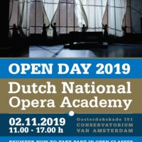 Dutch National Opera Academy Open Day