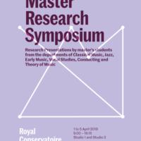 Master Research Symposium 2019