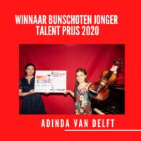 Adinda van Delft wint Bunschoten Jonger Talent Prijs 2020
