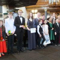 Jong KC-prijswinnaars tijdens de Maassluise Muziekweek 2020!